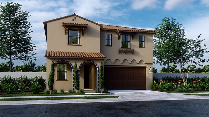 A rendering of a home designed for the San Pedro development under construction.