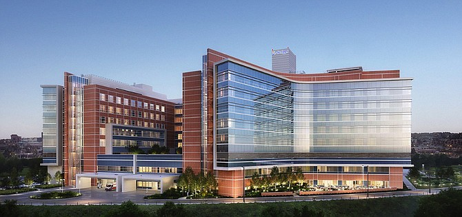 Scripps Health is building a $644 million new hospital tower in La Jolla. Rendering courtesy of HGA architects.