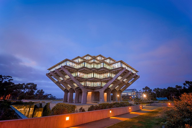 The Geisel Library at UC San Diego. The university is a center of invention, with more than 200 patents awarded in the past year. Photo by Erik Jepsen, courtesy of UC San Diego. Image copyright the Board of Regents of the University of California.