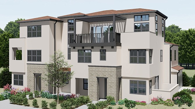 A Poway development by Meridian Communities offers housing for middle income families. Rendering courtesy of Meridian Communities.