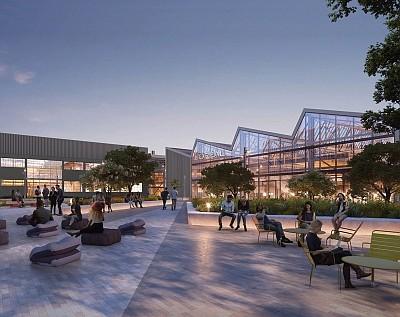 A rendering of L'Oréal USA's West Coast headquarters in El Segundo
