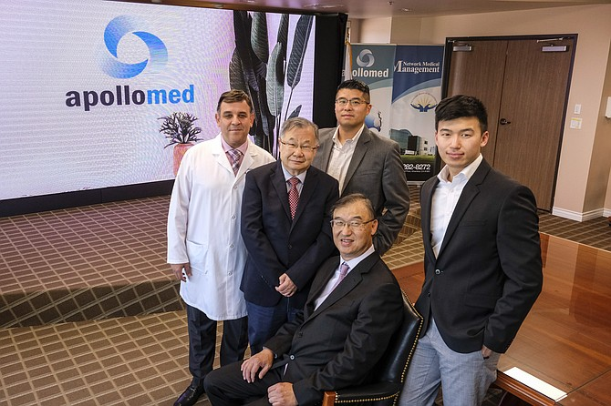(From left) Apollo executives Louay Shawesh, Thomas Lam, Eric Chin, Kenneth Sim and Brandon Sim.
