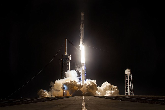 SpaceX's second crewed mission with NASA reused parts from previous flights.