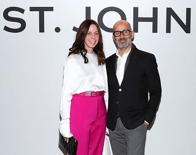 St. John creative director Zoe Turner with former CEO Eran Cohen