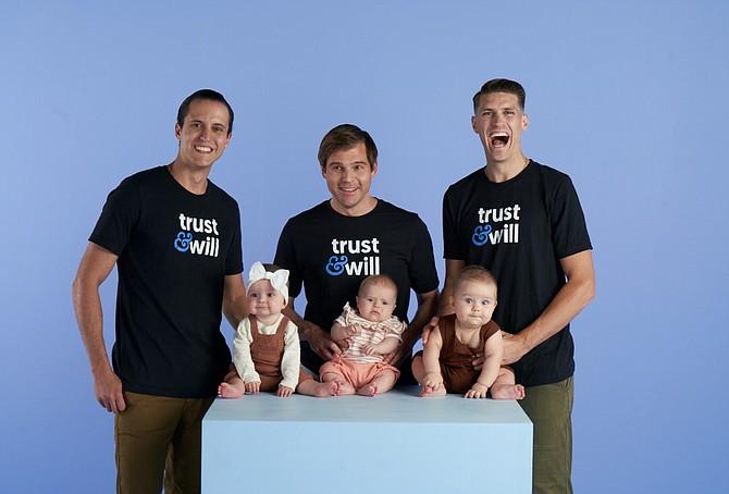 Trust & Will founders (L-R) Cody Barbo, Brian Lamb and Daniel Goldstein.