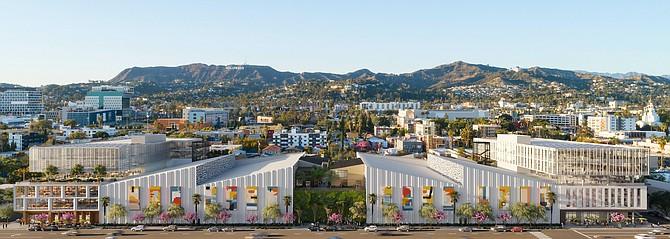 A rendering of Echelon Studios at 5601 Santa Monica Blvd.