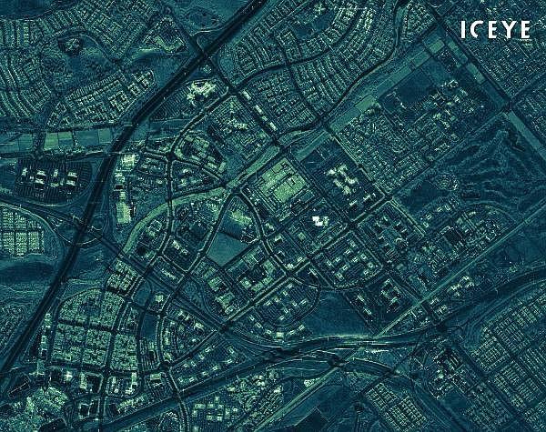 Radar satellite image from Iceye US