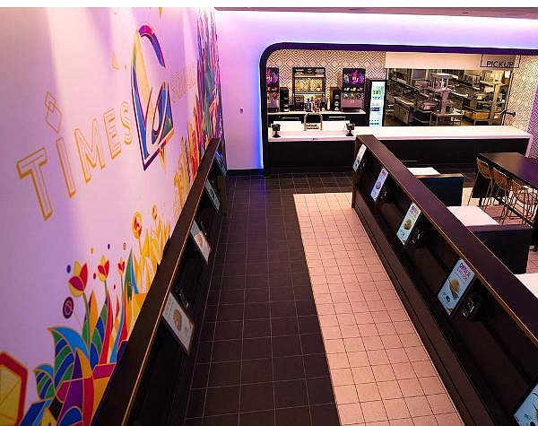 Recently opened Taco Bell Cantina in Times Square focuses on digital-only orders, pickup cubbies
