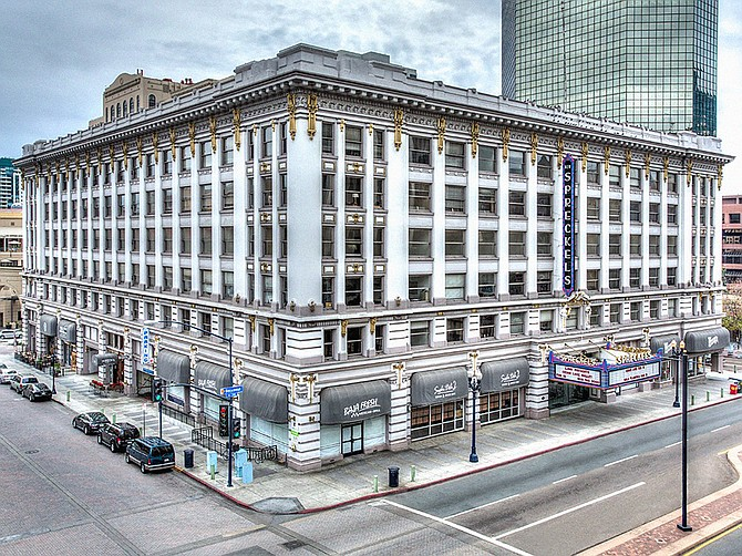 The historic Spreckels Theater building, at the edge of the Gaslamp Quarter downtown, dates back to 1912. Photo courtesy of Thorofare Capital, Inc.
