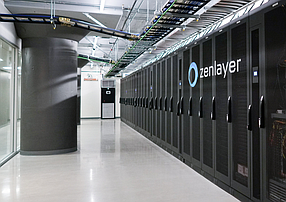 A data center where Zenlayer Inc. performs its cloud-based computing work to install servers and network connection equipment.