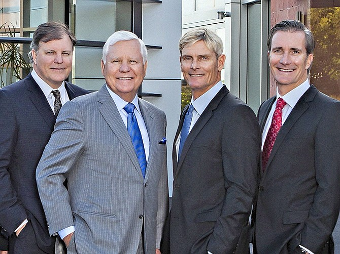 Al Baldwin's three sons – Ron, Shawn and Steve, have joined him in the housing business. Photo courtesy of Baldwin & Sons.