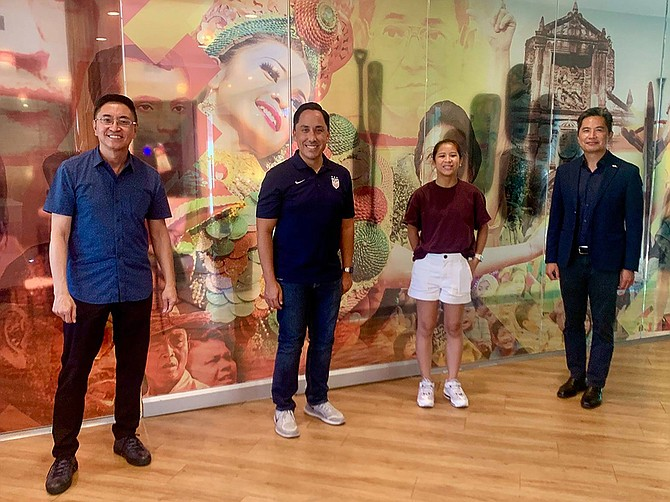 In August 2020, Mayor of San Diego Todd Gloria visited The Filipino School to talk about voices historically unheard. Photo Courtesy of The Filipino School.