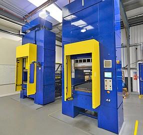 Teledyne CML Composites' thermoplastic presses.