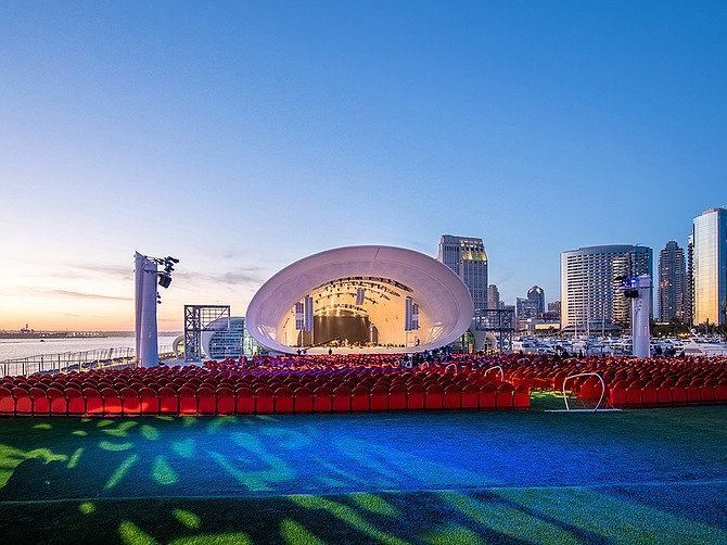 San Diego Symphony has officially named its outdoor venue the Rady Shell, in honor of the generous donation from philanthropists Ernest and Evelyn Rady. Photo Courtesy of San Diego Symphony.