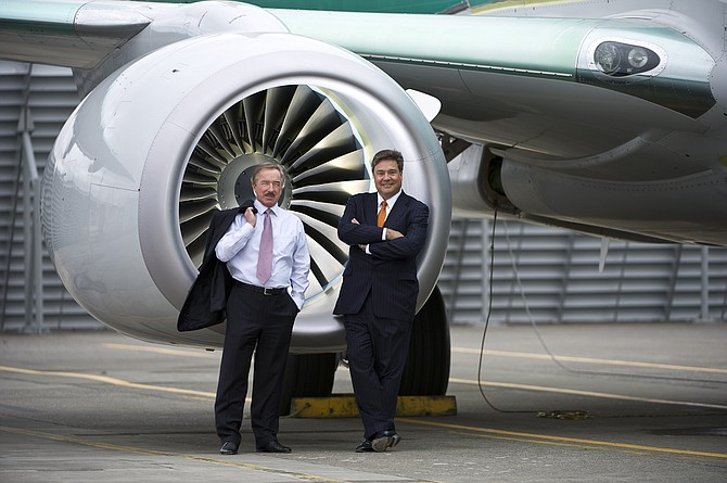 Air Lease Founder Steven Udvar-Házy (left) with CEO John Plueger.
