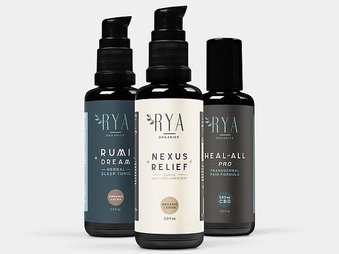 Cymbiotika LLC, founded in 2017 and headquartered in Sorrento Valley, recently launched Rya Organics, a CBD-focused brand. Photo Courtesy of Rya Organics.