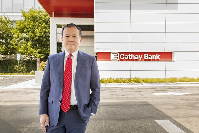 Chang Liu, president and chief executive of Cathay General Bancorp, has focused on community support efforts.