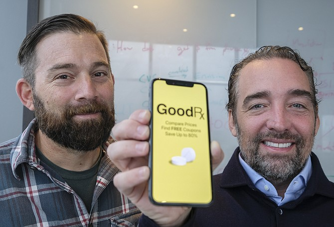 Doug Hirsch, left, and Trevor Bezdek, co-founders and co-CEOs of GoodRX Inc.