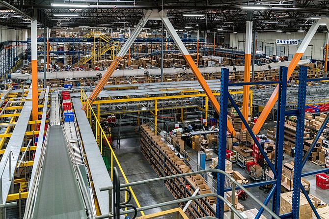 A Newegg electronics warehouse.
