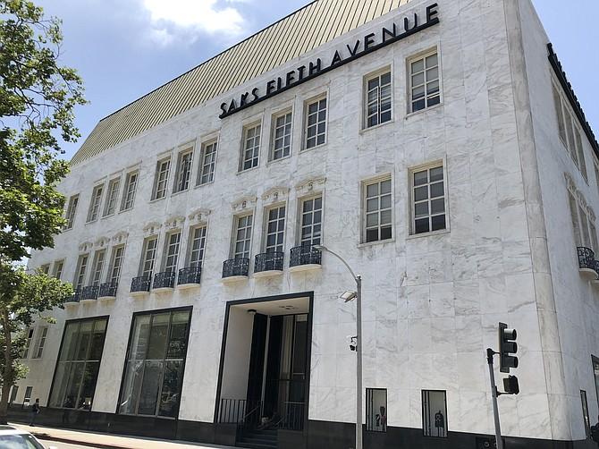 A Saks' Wilshire Boulevard building.