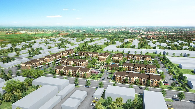 Rendering of USA Properties Fund's Terracina at Lancaster project.