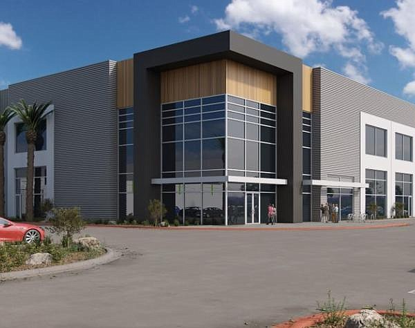 Rendering of Fullerton logistics hub; construction set to be completed by next spring