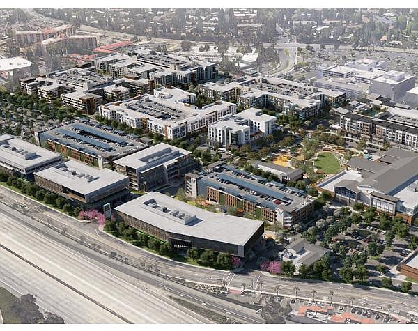 Rendering: 1,500 apartments, hotel part of latest proposal for site