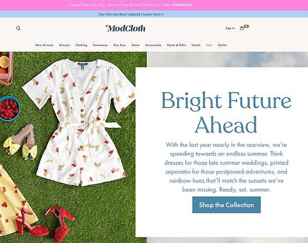ModCloth's online shop