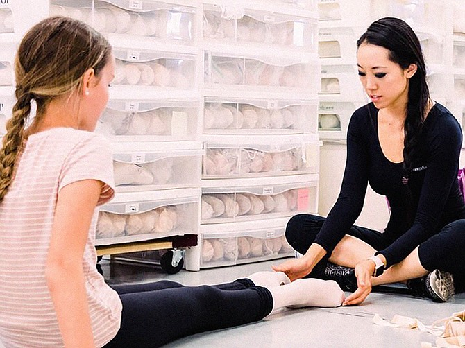 Josephine Lee has been fitting pointe shoes for more than 17 years and since 2014 she has traveled across the country for fittings through her business, The Pointe Shop. Photo Courtesy of Josephine Lee, Photo by Amy Howton.