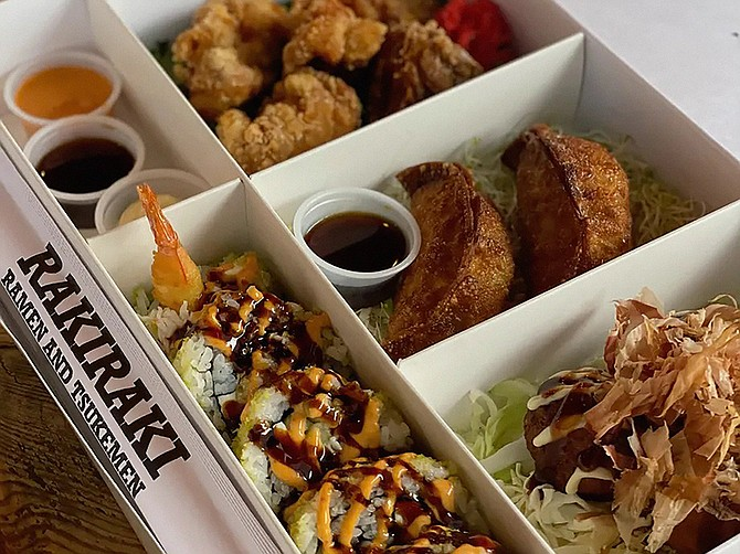 RakiRaki Commons will feature a Kaiseki bento box (pictured above) and sushi concept, as well as a Kaarage fried chicken restaurant called JCK, a RakiRaki Ramen, a The Yasai and a bar. Photo Courtesy of RakiRaki Commons.