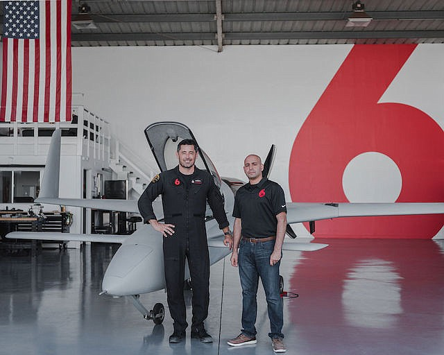 Red 6 Chief Executive Daniel Robinson (left) and Chief Financial Officer Maissan Almaskati.