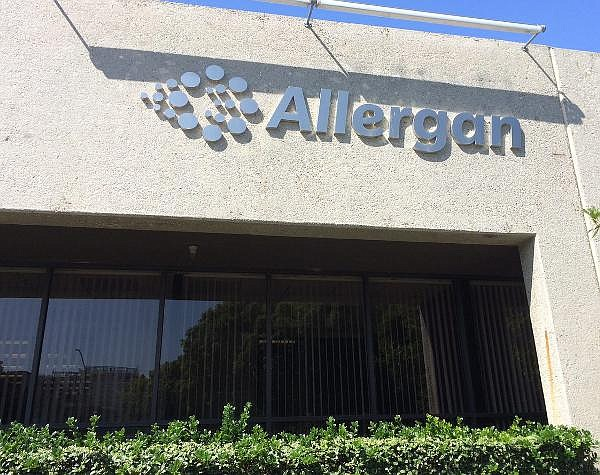 Former Allergan offices in Irvine; headcount at local campus roughly half of what it was six years ago
