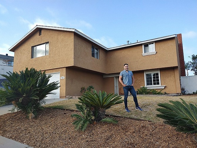 Ross Bixler bought a new home in Chula Vista using a new home-buying service started in San Diego. Photo courtesy of Home Bay Technologies.