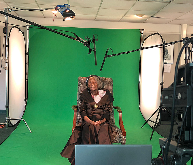 Lessie Benningfield Randle, also known as Mother Randle, is one of the last two survivors of the Tulsa Race Massacre. StoryFile created a virtual experience that allows audience members to ask questions about her experiences.