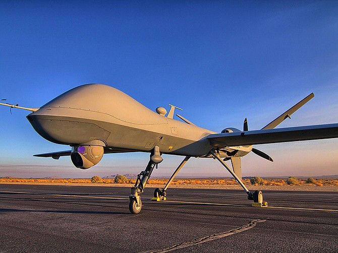 The Department of the Navy has signed an $11.2 million deal with General Atomics Aeronautical Systems Inc. to buy the services of contractor-owned and contractor-operated MQ-9 Reaper aircraft, similar to the one shown. The deal runs through August. Photo courtesy of General Atomics Aeronautical Systems Inc.