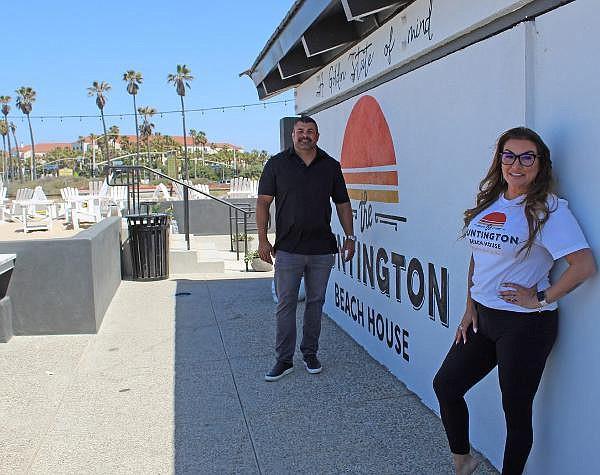 Prjkt's Vinnie Capizzi and Alicia Whitney, at soon-to-open Huntington Beach House