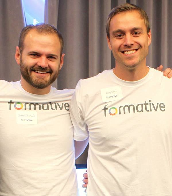 Formative's Kevin McFarland (left), chief operating officer, and Craig Jones, co-founder and chief executive officer.