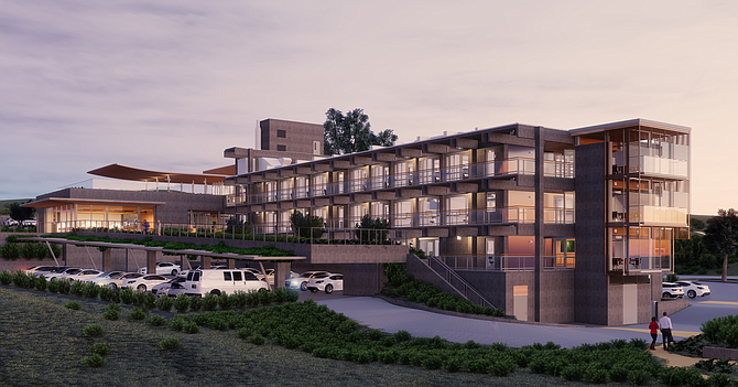 A 1960s-era marine research center at Scripps Institution of Oceanography is getting a new look. Rendering courtesy of Safdie Rabines Architects.