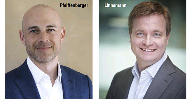 Brent Pfeiffenberger (left), chief operating officer, and Carsten Linnemann, chief executive, Neogene.