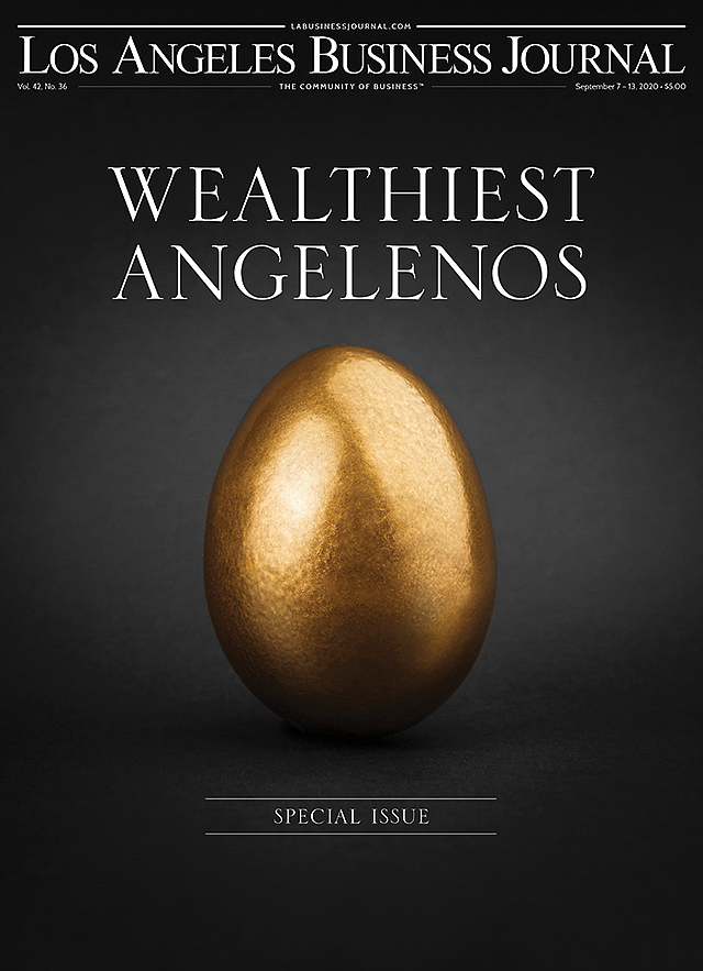 The cover of the Los Angeles Business Journal issue that won the Best Ancillary Publication award.
