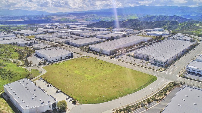 Industrial parcel at 28541 Witherspoon Parkway in Valencia.