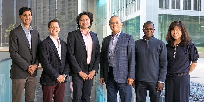 Videa Ventures executive team include (from left) Rajul Jain, Stefan Vitorovic, Arjun Goyal, Arie Belldegrun, Jean-Philippe Kouakou-Zebouah and Helen Kim.