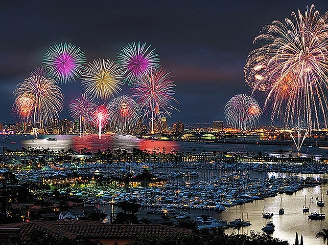 Big Bay Boom, the San Diego annual fireworks show conducted each July 4th, generated $10.1 million in incremental sales in 2018 and $17.8 million in sales in additional consumer spending. Photo Courtesy of Big Bay Boom.