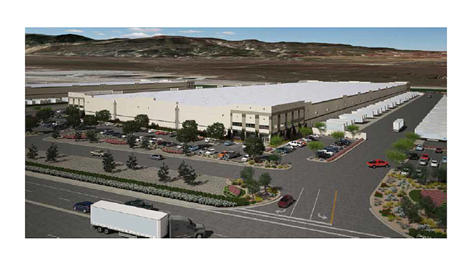 Rendering of warehouse at 5151 Wheeler Ridge Road in the Tejon Ranch Commerce Center.