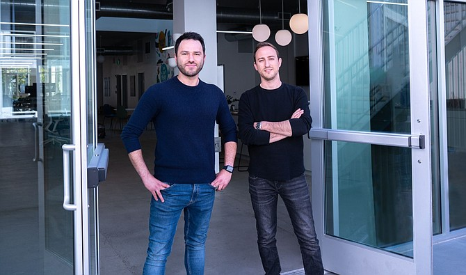 Tapcart founders Sina Mobasser and Eric Netsch.