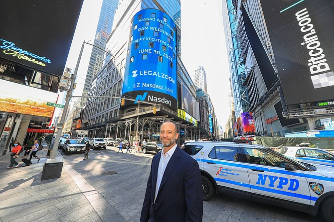 LegalZoom Chief Executive Dan Wernikoff at IPO in New York.