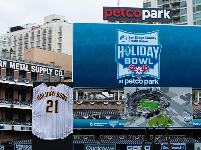 Starting this December, the annual San Diego County Credit Union Holiday Bowl will be played at Petco Park. Photo Courtesy of San Diego County Credit Union Holiday Bowl.