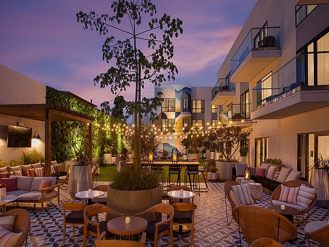 The Monsaraz San Diego, opened just a month ago, is already seeing occupancy similar to what would have been expected in the pre-pandemic, 2019 travel season, according to a spokesperson. Photo Courtesy of The Monsaraz San Diego.
