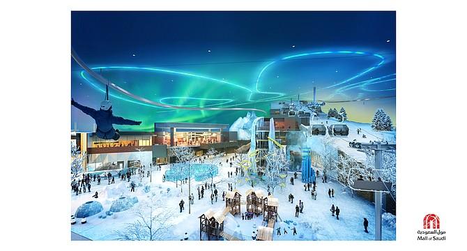 The snow park planned for Majid Al Futtaim's Mall of Saudi.