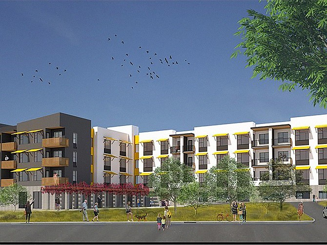 Union Apartments on Bonita Glen Drive is among new projects by Silvergate Development in Chula Vista. Rendering courtesy of Silvergate Development.